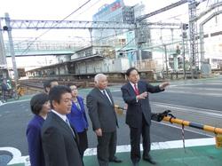 竹ノ塚立体交差の視察(2012年11月)