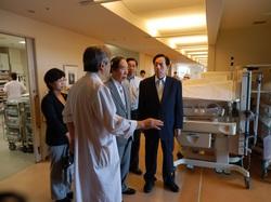 坂口元厚労大臣と東京北社会保険病院を訪問