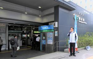 駒込駅 駅頭1005